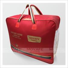 大红丝光革钢包